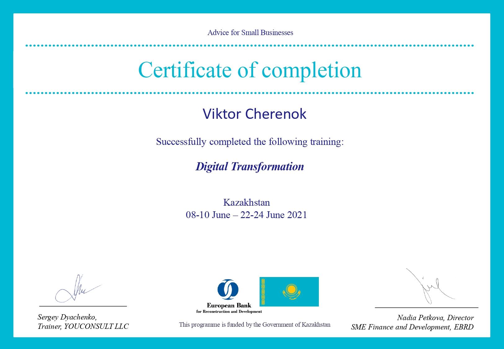 Digital Transformation certificates_signed_Viktor Cherenok_page-0001